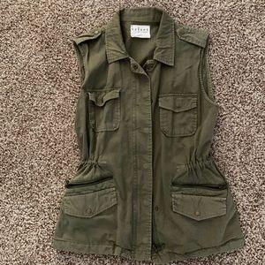 Velvet by Graham & Spencer Green Military Vest